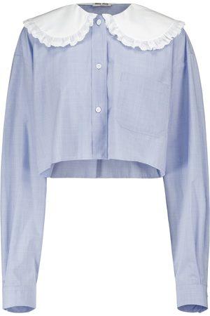 Miu Miu Mujer Blusas - Blusa de popelín de algodón