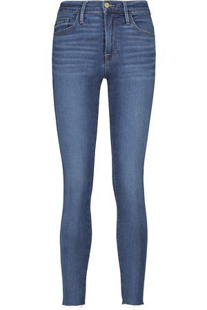 Frame Jeans skinny Le High de largo cropped