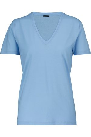 Joseph Camiseta punto de algodón cuello en V