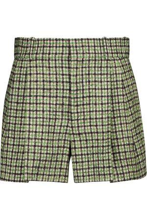Chloé Mujer Pantalones cortos - Shorts de tweed a cuadros