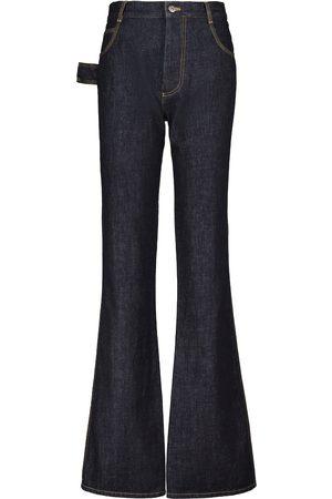 Bottega Veneta Mujer Acampanados - Jeans flared de tiro alto