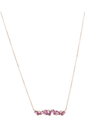 Suzanne Kalan Collar Frenesia Bar de oro de 14 ct