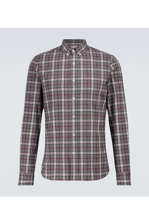 Brunello Cucinelli Camisa de franela de cuadros