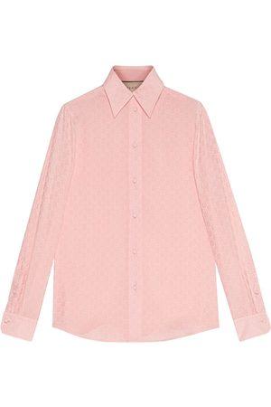 Gucci Camisa de crepé de China