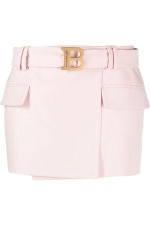 Balmain Mujer Minifaldas - Minifalda con logo B