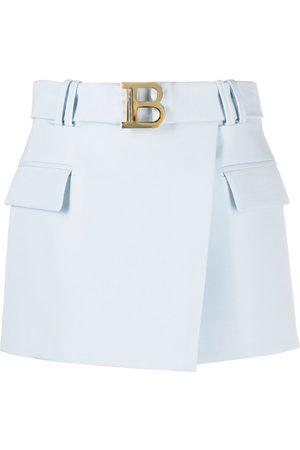Balmain Minifalda con hebilla B