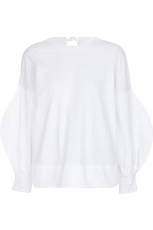 Victoria Victoria Beckham Camiseta de punto de algodón