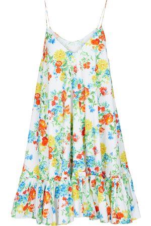 Caroline Constas Vestido corto Laurel en mezcla de algodón floral