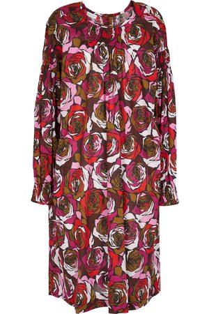 DRIES VAN NOTEN Vestido corto de algodón floral