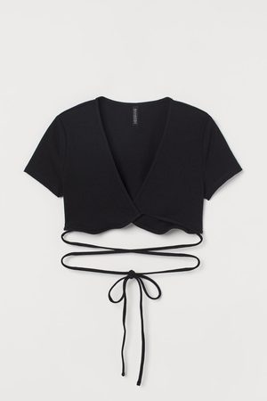 H&M Mujer Crop tops - Top cropped cruzado
