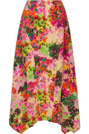 Stella McCartney Falda midi Naya de seda floral