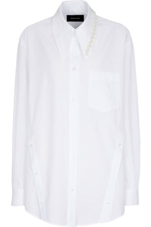 Simone Rocha Camisa de algodón con adornos