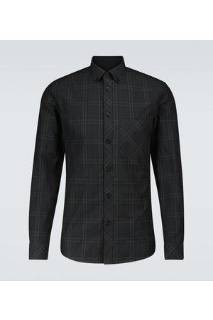 Burberry Camisa Simms de cuadros de algodón