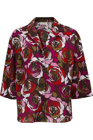 DRIES VAN NOTEN Camisa Cala de algodón print de rosas