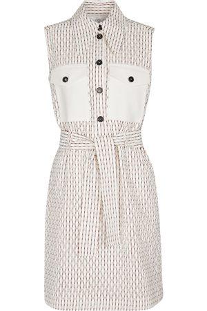 Victoria Victoria Beckham Vestido corto de mezcla de algodón cuadros