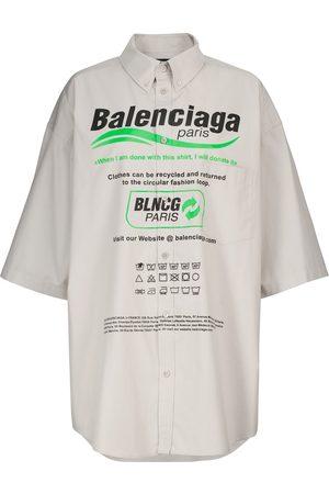 Balenciaga Camisa extragrande popelín algodón print