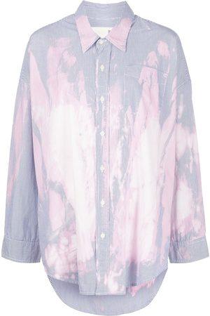 R13 Mujer Camisas - Camisa con efecto descolorido