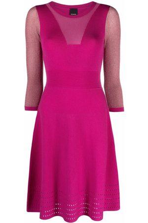 Pinko Vestido de punto con detalle perforado