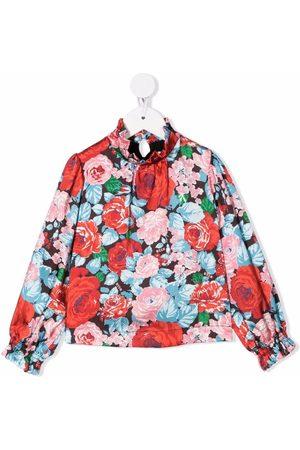 Msgm Camisa con motivo floral y volantes