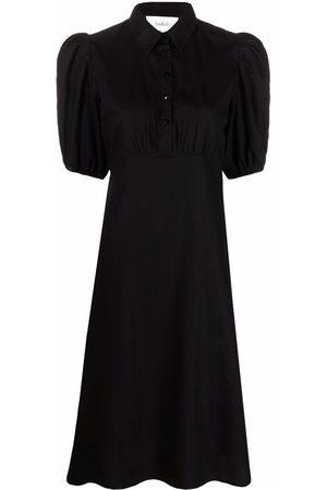 Bash Mujer Camiseros - Vestido camisero de manga farol