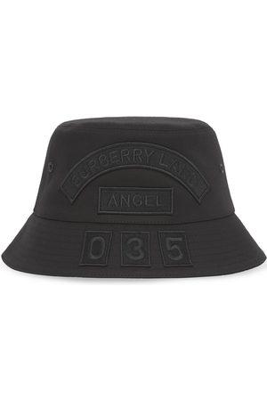 Burberry Hombre Sombreros - Sombrero de pescador con parche