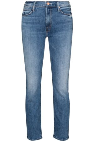 Mother Mujer Cintura alta - The Dazzler cropped jeans