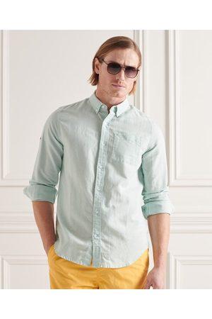 Superdry Camisa de lino y algodón de manga larga