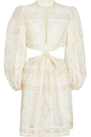 ZIMMERMANN Vestido corto Aliane de algodón bordado