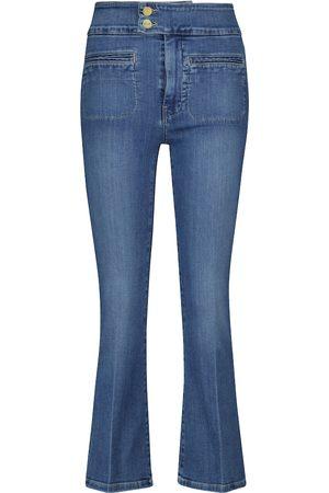 Frame Jeans flared Le Hardy de tiro alto