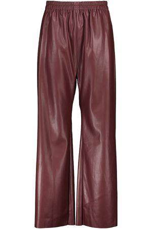 Deveaux New York Pantalón ancho Savannah piel sintética