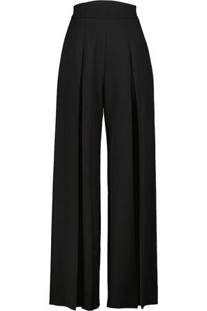 Alaïa Pantalones flared de algodón de tiro alto