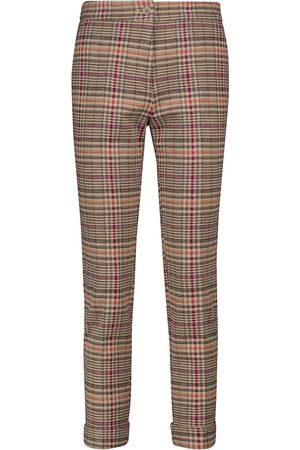 Etro Pantalones slim algodón y lana a cuadros