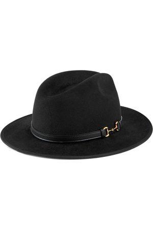 Gucci Hombre Sombreros - Sombrero de fieltro con detalle de piel