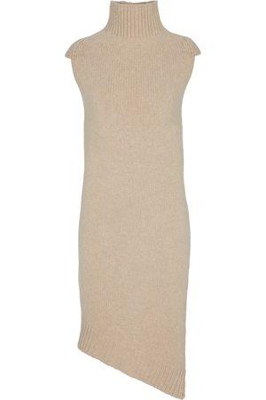 Jil Sander Vestido de lana de cuello alto