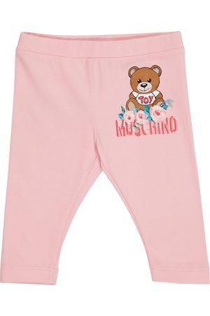 Moschino Kids Bebé - leggings Teddy de algodón elástico