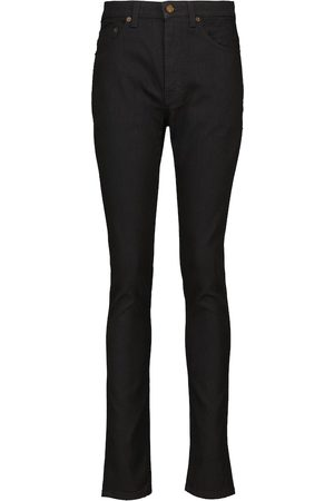 Saint Laurent Mujer Cintura alta - Jeans skinny de tiro alto