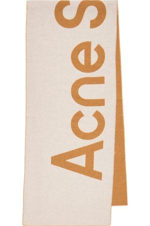 Acne Studios Bufanda de jacquard en mezcla de lana