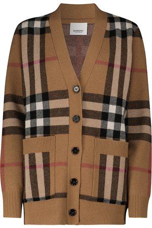 Burberry Cárdigan de punto de lana y cachemir