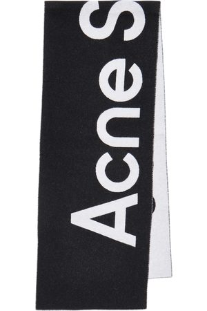 Acne Studios Mujer Bufandas y Pañuelos - Bufanda de jacquard en mezcla de lana