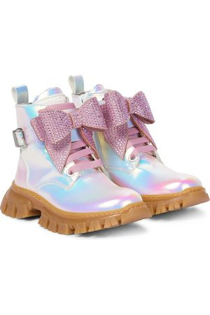 MONNALISA Botines iridiscentes con adornos