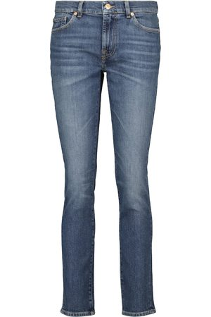 7 for all Mankind Jeans ajustados de tiro bajo