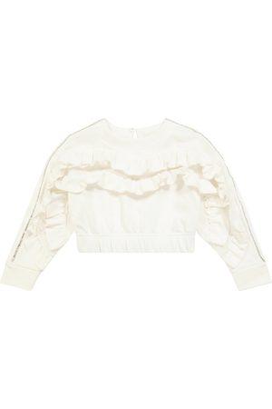 Monnalisa Sudadera de algodón elástico con adornos