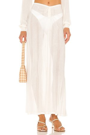 DEVON WINDSOR Falda bridget en color blanco talla L en - White. Talla L (también en XS, S, M).