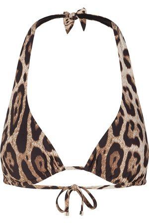 Dolce & Gabbana Mujer Bikinis - Top de bikini con cuello halter