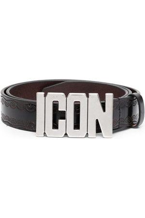 Dsquared2 Cinturón con hebilla con placa del logo