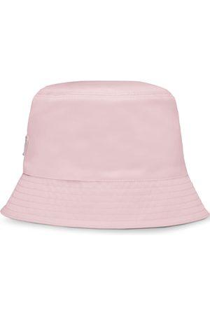 Prada Mujer Sombreros - Sombrero de pescador con placa del logo