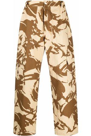 Paria Farzaneh Pantalones cargo - Pantalones cargo con estampado militar