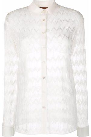 Missoni Mujer Camisas - Camisa con motivo en zigzag