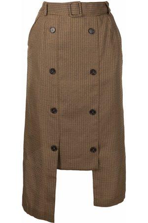 Rokh Mujer De tubo - Falda asimétrica con doble botonadura