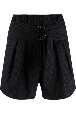IRO Mujer Bermudas - Pantalones cortos a rayas con cinturón